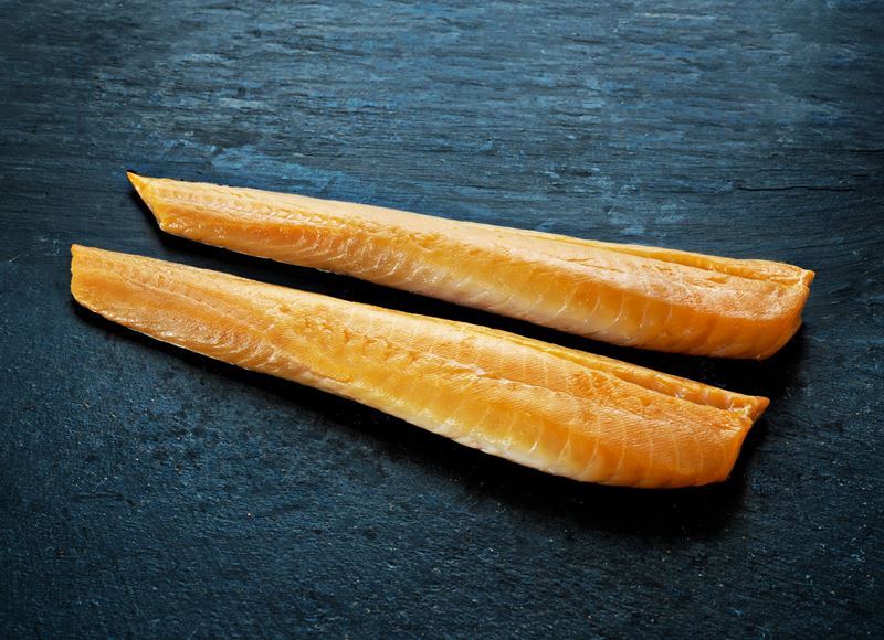 Cold smoked cod loins